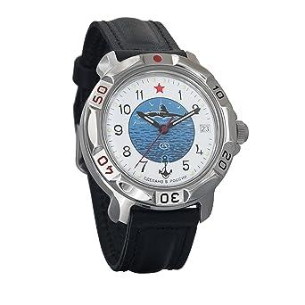 Vostok KOMANDIRSKIE 2414 811055 U-Boot submarino Militar ruso reloj mecánico: Amazon.es: Relojes