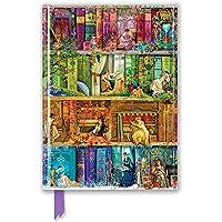 Premium Notizbuch DIN A5: Aimee Stewart, Bücherregal Carpe Diem: Unser hochwertiges, liniertes Blankbook mit festem…