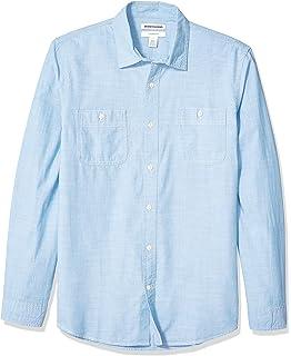 Look de moda: Camisa de manga larga de cambray a lunares