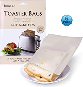 Toast It All Bags - Reusable Toaster Bags Non-stick 8 Toast Bags