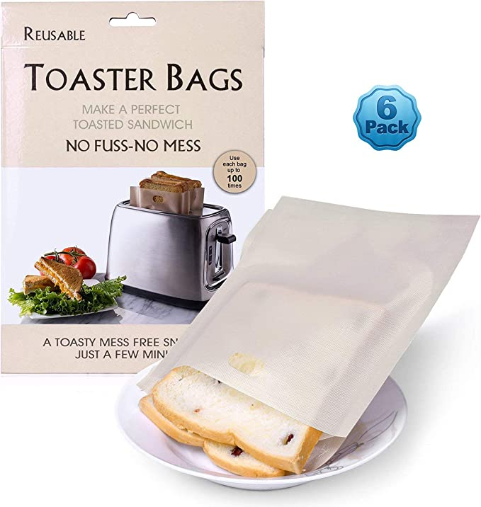 Toast Bag Cookie Free Quick /& Clean Toasting Toast Bags up to 260 ° 3er Pack