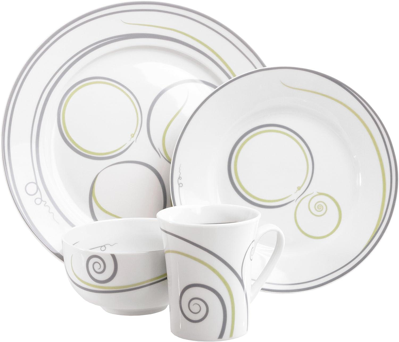 Livliga Vivente 4-Piece Portion Control Dinnerware Set
