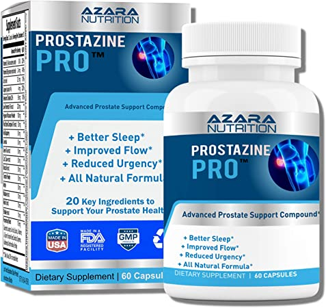 Azara Nutrition Prostate Support Supplement for Men, Pure Saw Palmetto Extract Capsules for Bladder Control and Reduce Frequent Urination, DHT Blocker for Hair Growth, 60 Capsules