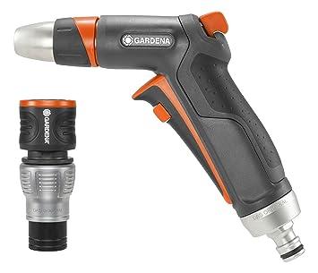 Gardena Premium Reinigungsspritzen-Aktion, Robuste Reinigungsspritze und Wasserstop-Anschlussstück, ideales Bewässerungs-Set,