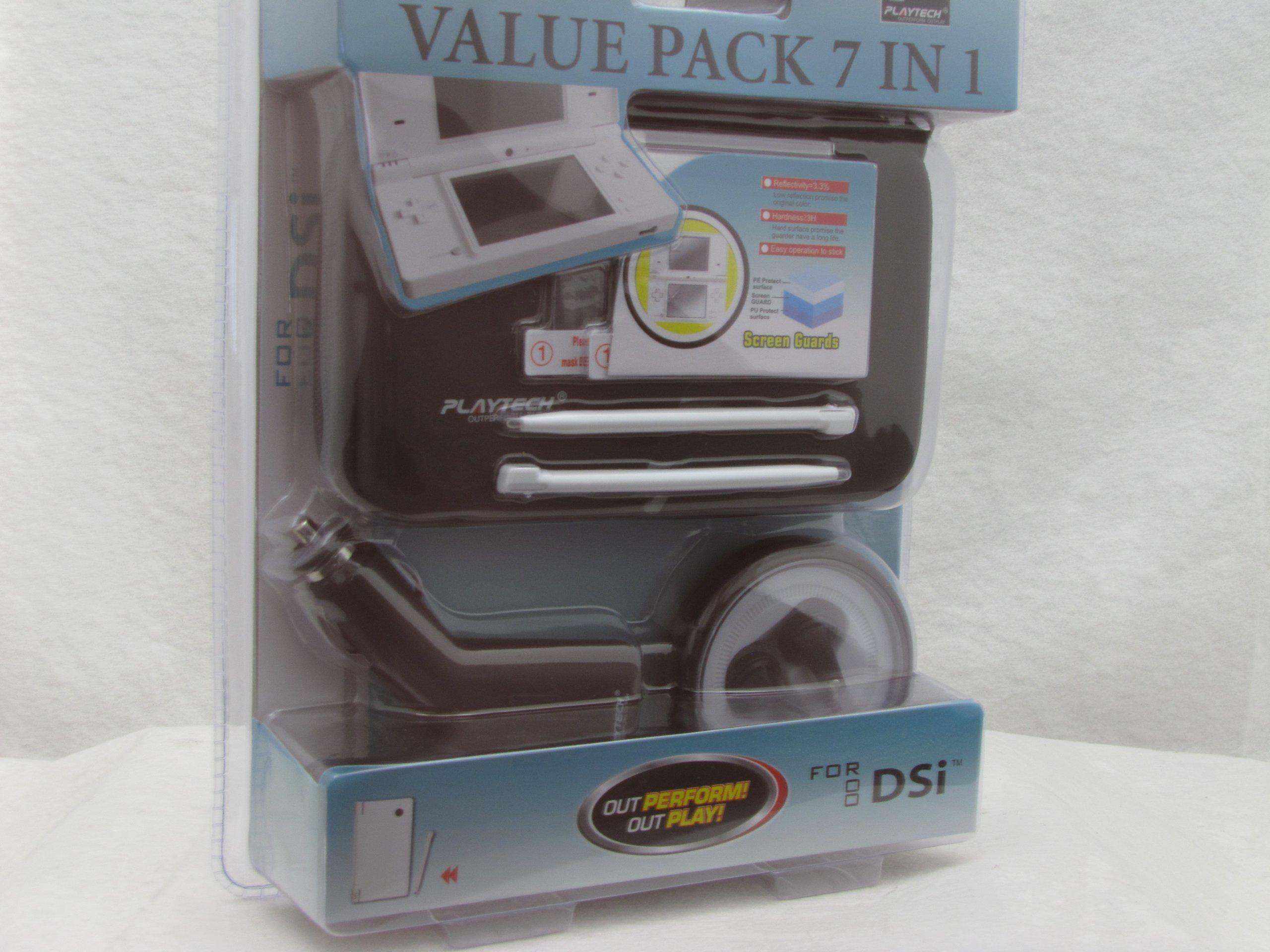 Nintendo DS Lite Hard Universal Travel Case Protector + Charger Set-7 in 1 Vlaue Pack-Black