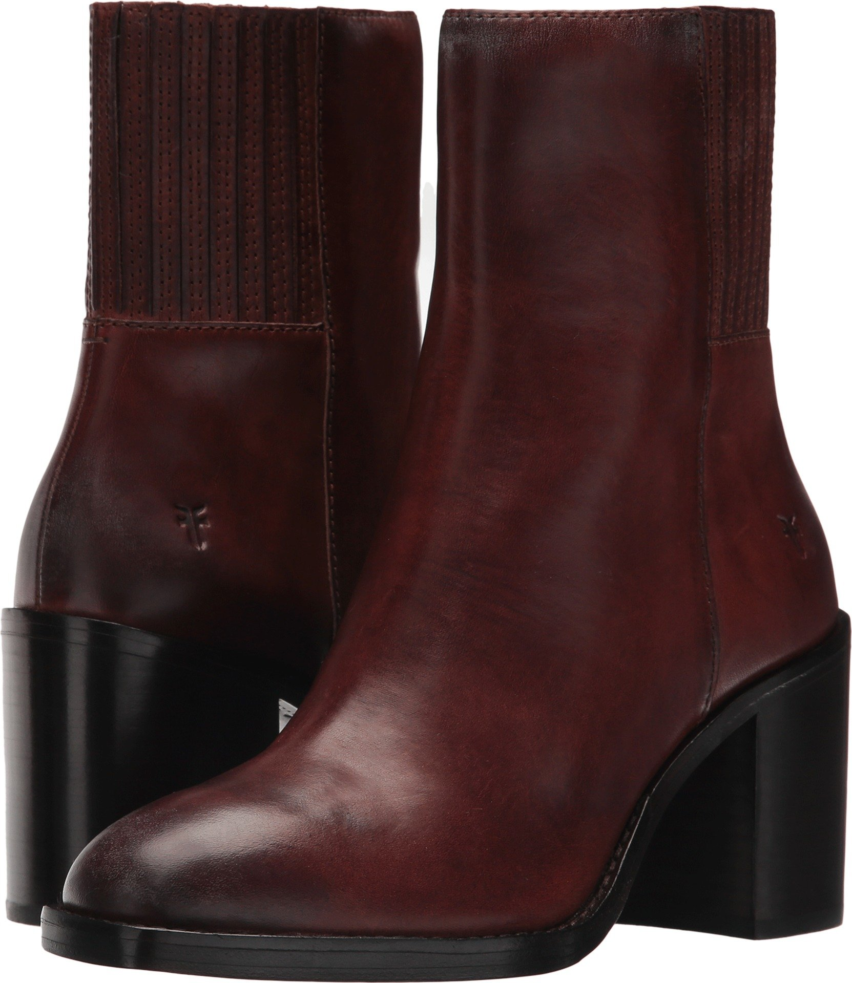 FRYE Women's Pia Short Chelsea Boot, Brown Vintage Leather, 8.5 M US