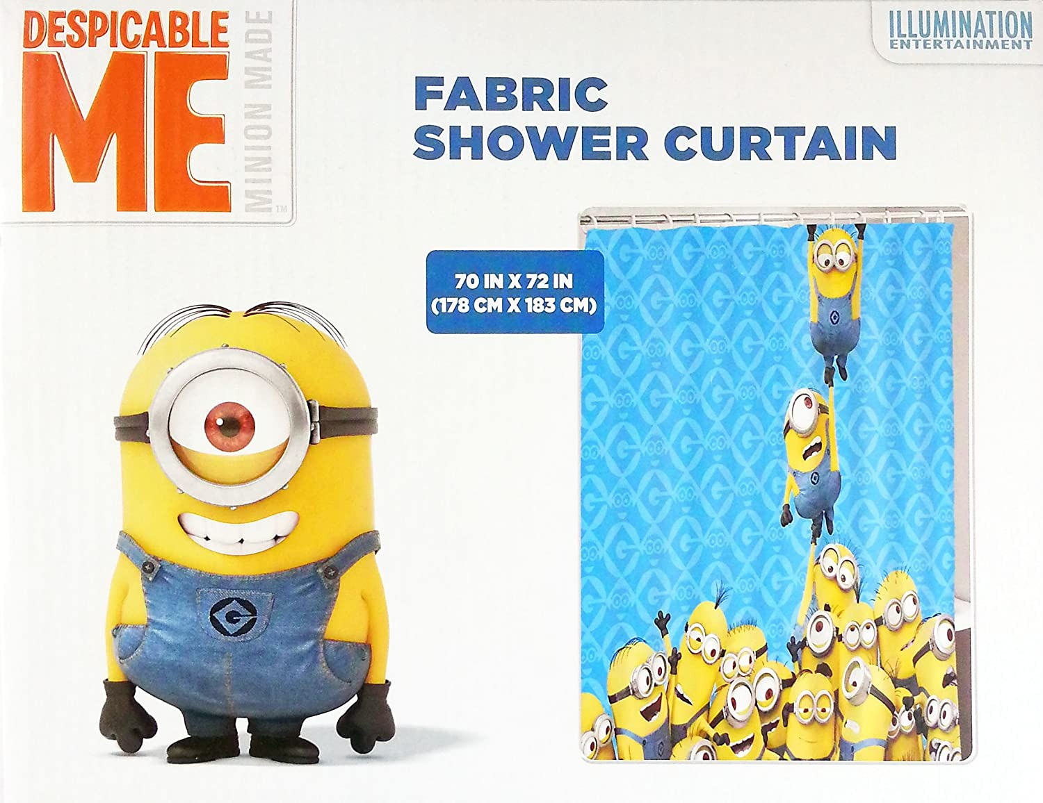 Despicable Me Minions Fabric Shower Curtain
