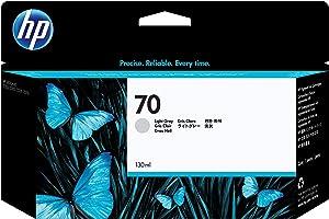 HP 70 Light Gray 130-ml Genuine Ink Cartridge (C9451A) for DesignJet Z5400, Z5200, Z3200, Z3100 & Z2100 Large Format Printers