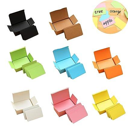 Tarjetas de Papel,Tarjeta de Color Caramelo Sola,Tarjeta en Blanco de La Tarjeta Postal, se Puede Utilizar Como Tarjeta de Graffiti de Bricolaje, ...