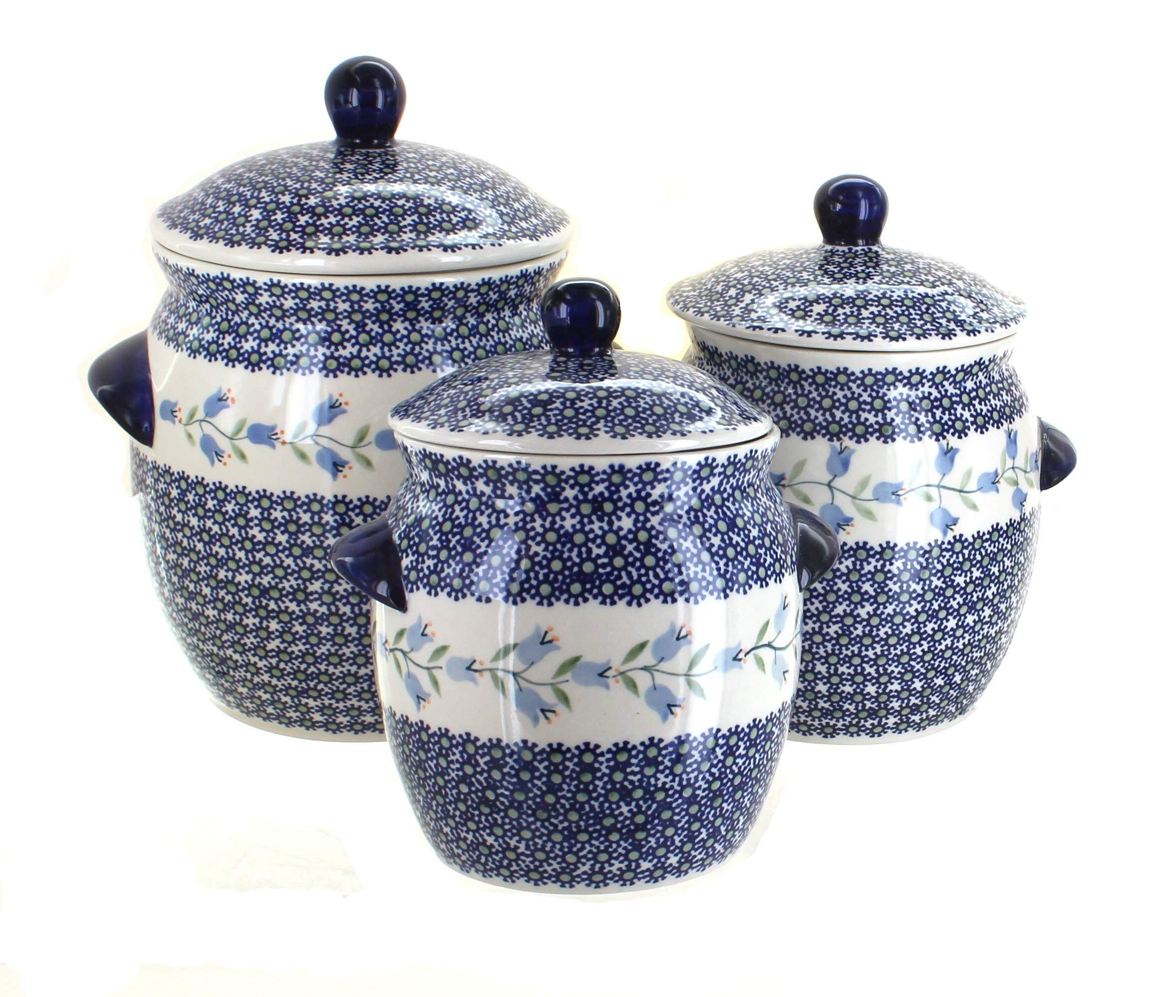 Manufaktura Blue Rose Polish Pottery Tulip Canister Set by Manufaktura (Image #1)