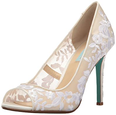 e9a1598a9f0 Blue by Betsey Johnson Women s SB-Adley Dress Pump Ivory Fabric 9 M US