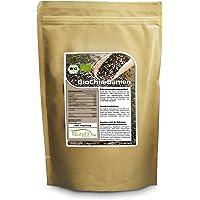 Nurafit BIO Chia Samen, Superfood für Müslis und Joghurt, Rohkostqualität aus Paraguay, mit Ballaststoffen und Omega-3 Fettsäuren, 1000g / 1kg