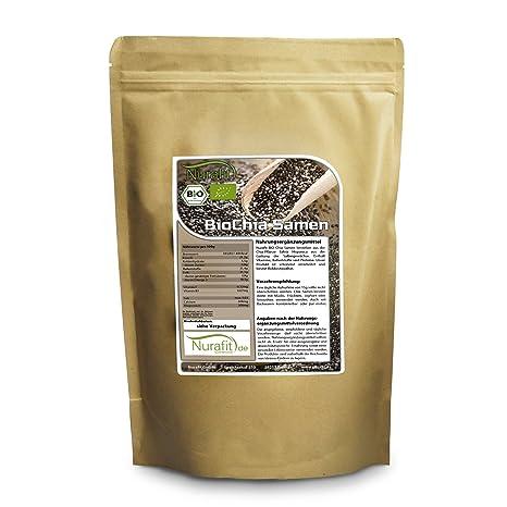 nurafit semillas de chia | Certificado Bio | 100% orgánica y veganas Cru | valor