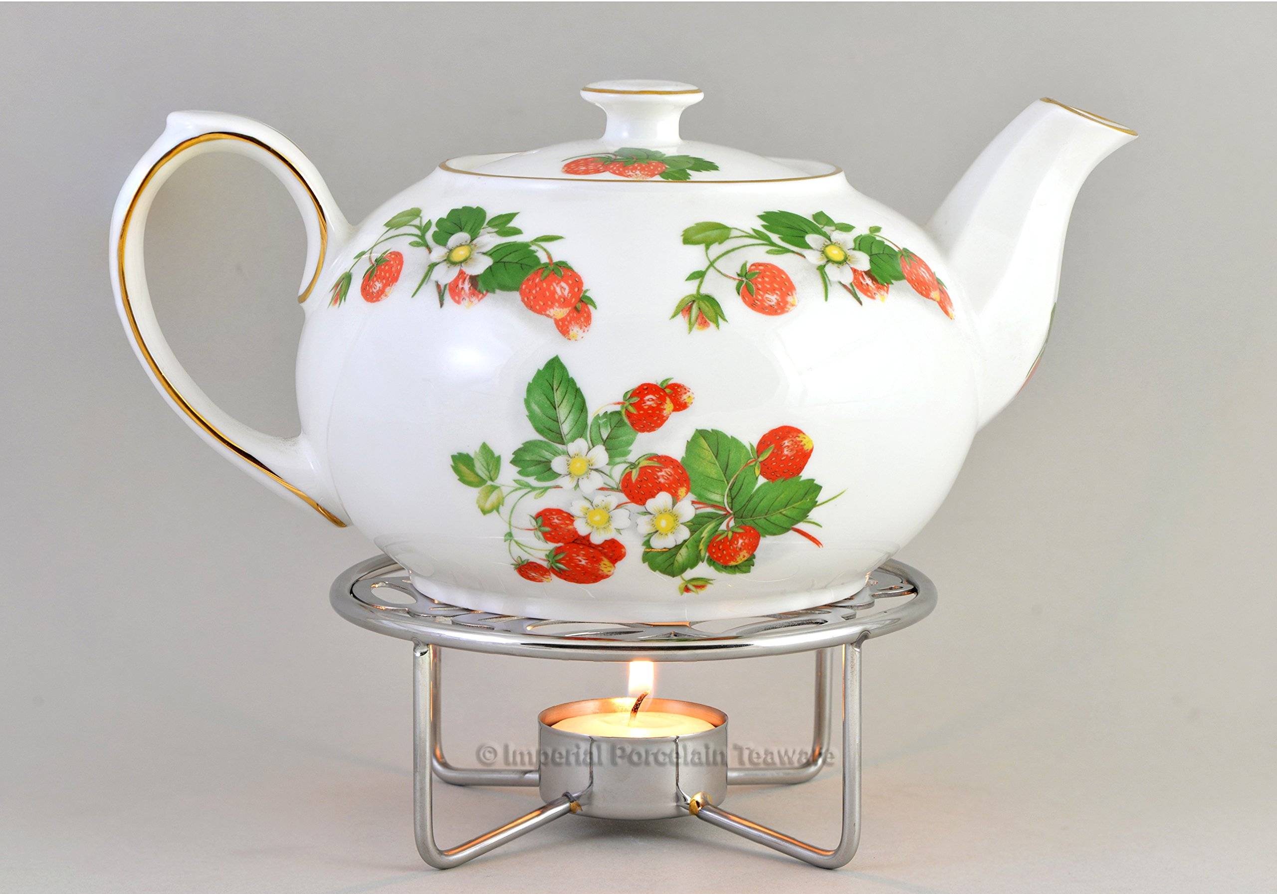 IMPERIAL PORCELAIN TEAWARE Teapot Warmer - Chrome Plated