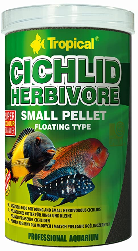 Tropical cich Lid Herbivore Small Pellet, 1er Pack (1 x 4 ...