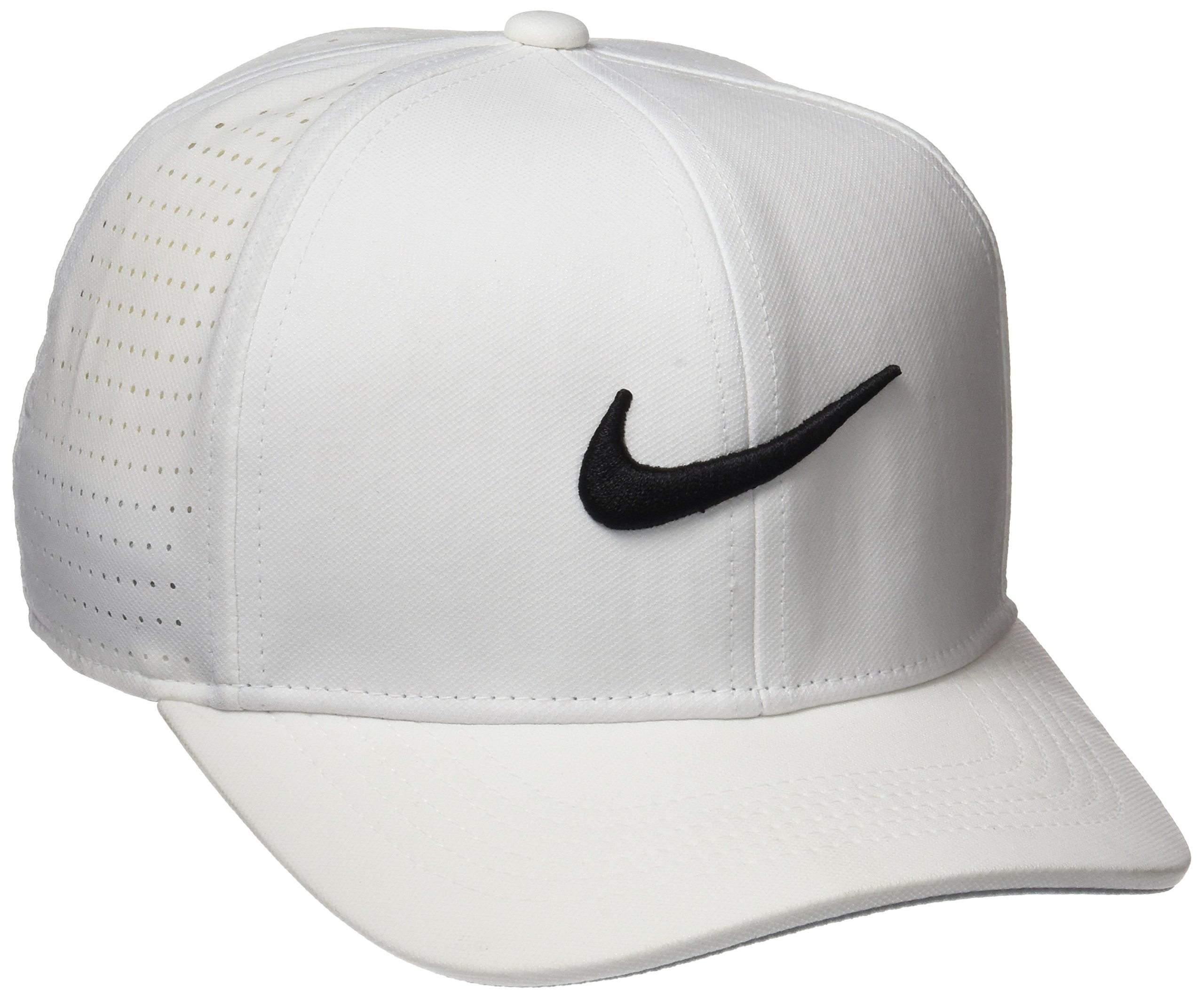 Nike Youth AeroBill Classic99 Athletic Golf Hat Adjustable (White)