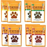 Pet Munchies Training Treats Mixed Pack of 8 - 2x Chicken + 2x Chicken & Liver + 2x Sushi + 2x Duck - All 4 Varieties in 1 Bundle