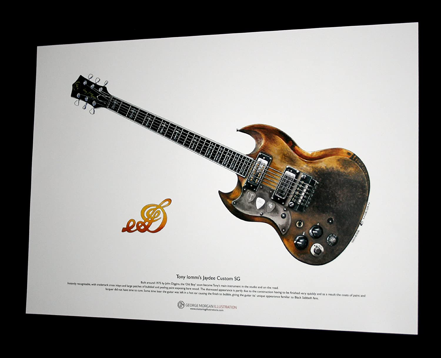 George Morgan Illustration Art Cartel de Jaydee Viejo Guitarra ...