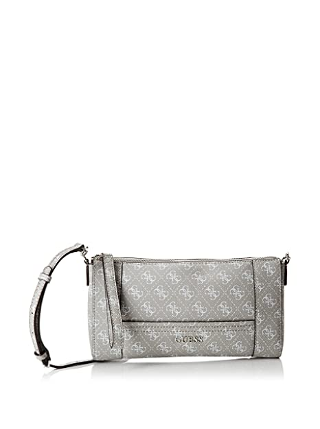 Guess Delaney es De Bolso ClaroAmazon Mano Top Zip Crossbody Gris srBtdQhCxo