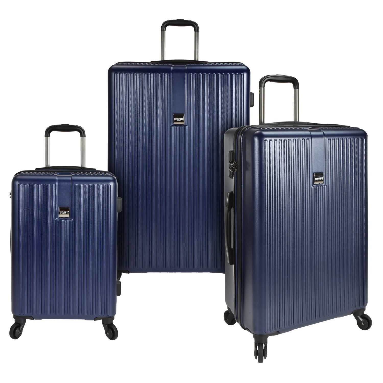 U.S. Traveler Sparta 3 Piece Hardside Spinner Luggage Set Navy One Size TRB3I US09049N