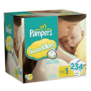 Amazon.com: Pampers Swaddlers Diapers Size 1 Economy Pack Plus ...
