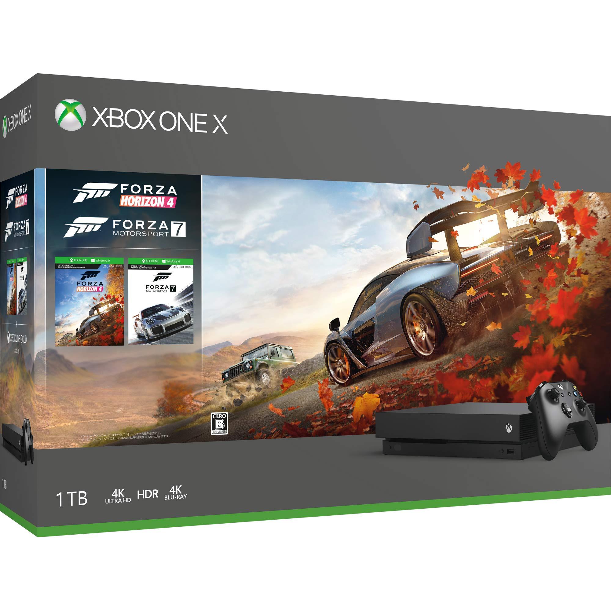 Xbox One X Forza Horizon 4 & Forza Motorsport 7同梱版