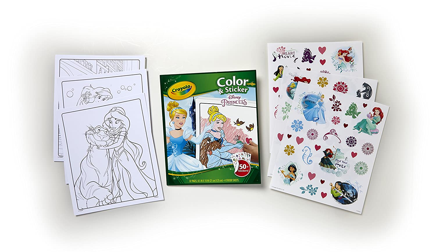 Coloring Pages Disney Sofia : Crayola disney disney princess colour and sticker book amazon