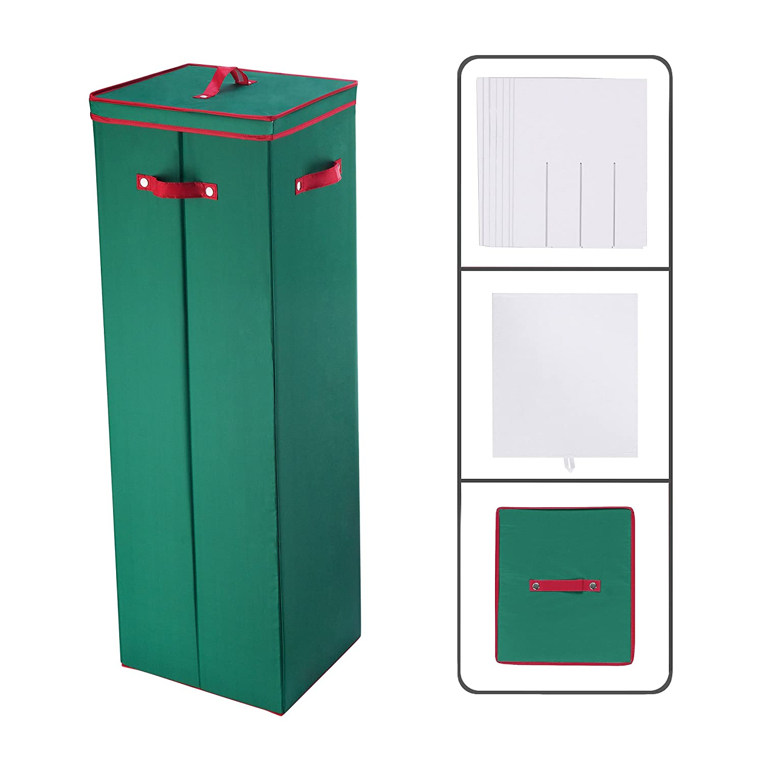 Tall Wrapping Paper Storage Box In Green Amazoncouk Kitchen &