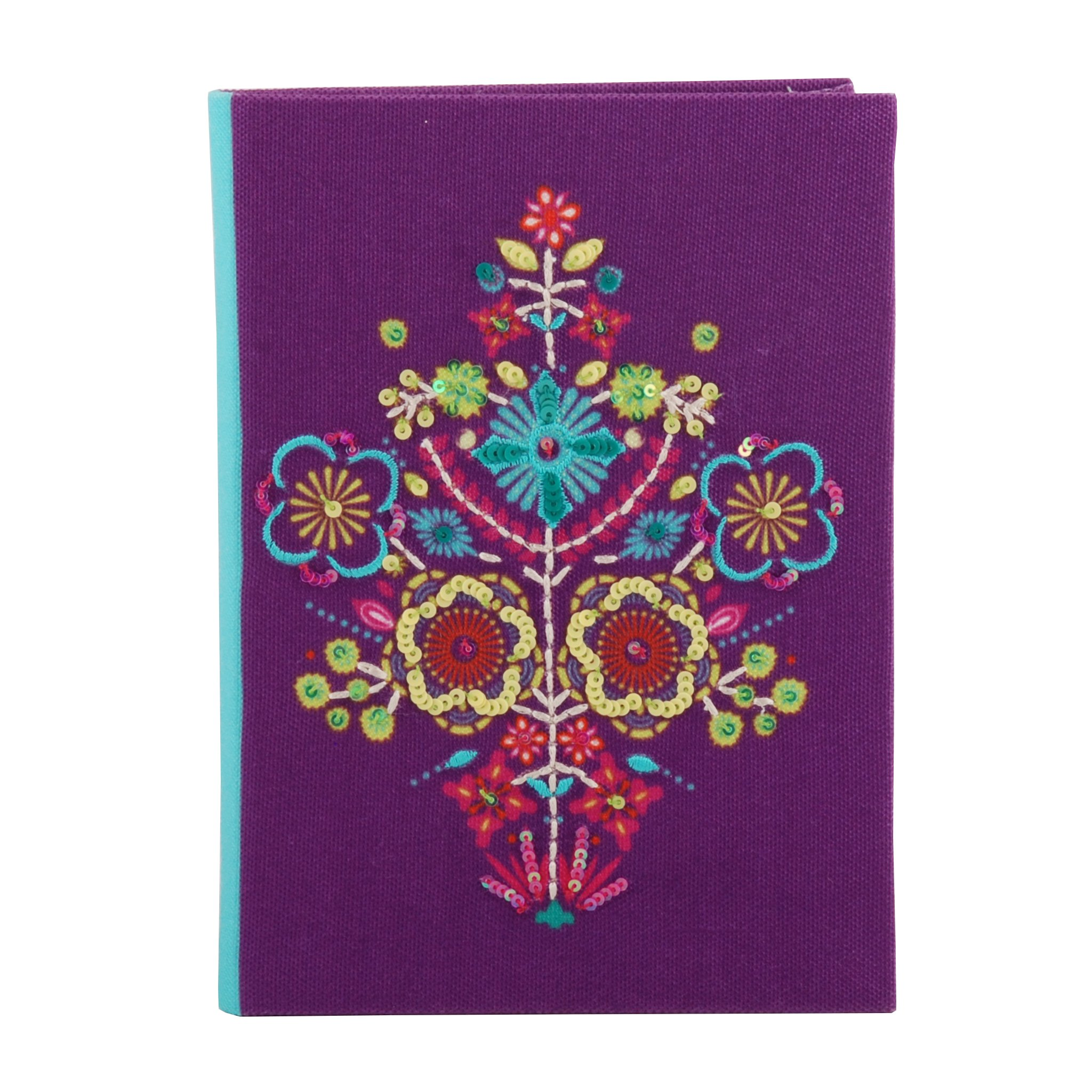 Classic Fabric Cover Notebook Journal Diary College Ruled Story Writing in Paper for Men Women & Girls with Bookmark Enclosed Perfect for Travel (7 in x 5 in)