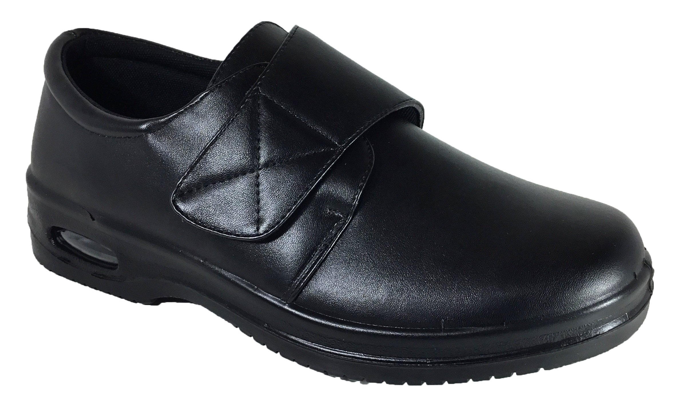 Brix Mens Oil Resistant Anti Slip Restaurant Working Shoes with Air (Acco) (6.5, Velcro)