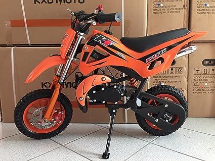 Minimoto Minicross Mini Moto Cross Gasolina 49 cc pit bike Niños: Amazon.es: Coche y moto