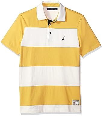 Nautica Hombres K81904 Manga Corta Camisa Polo - Amarillo - Small ...