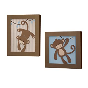 Amazon.com : Lambs & Ivy Wall Decor, Giggles : Nursery Wall ...