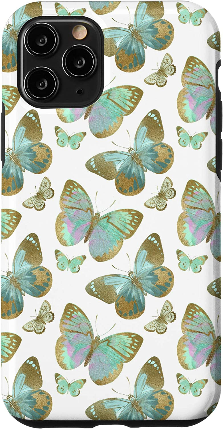 Amazon Com Iphone 11 Pro Green Wallpaper Art Abstract Art Butterfly Aesthetic Case