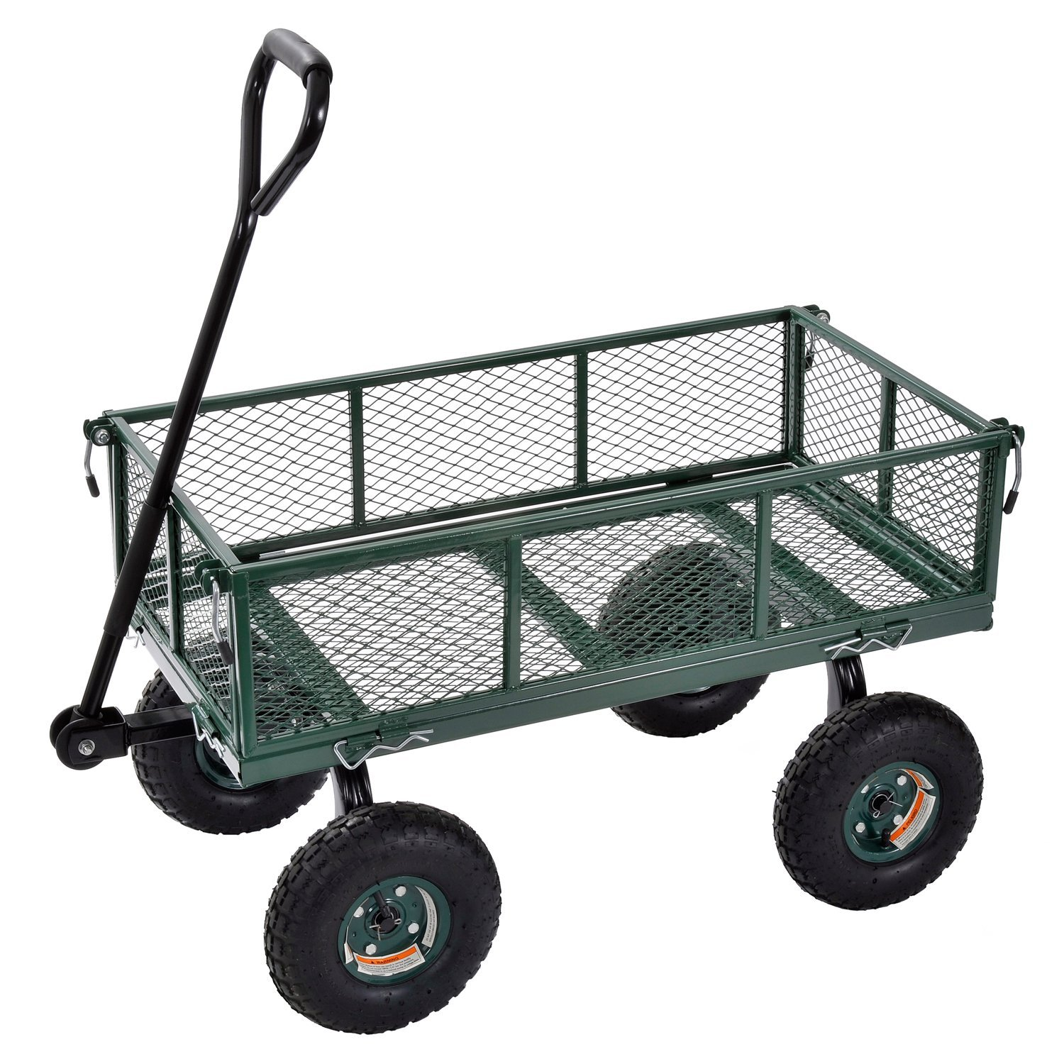 Sandusky Lee CW3418 Muscle Carts Steel Utility Garden Wagon, 400 lb. Load Capacity, 21-3/4'' Height x 34'' Length x 18'' Width by Sandusky