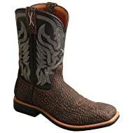 Twisted X Men's Top Hand Embossed Cowboy Boot Square Toe