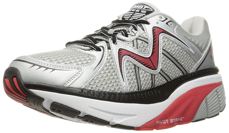 MBT Men's Zee 16 Running Shoe B01CK2EOAC 8.5 D(M) US White/Red/Silver