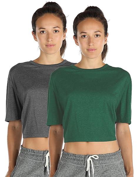 Amazon.com: icyzone Camisas de entrenamiento con espalda ...