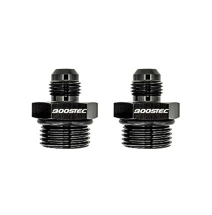 2 pcs K-MOTOR ORB-8 O-ring Boss AN8 8AN  to AN6 6AN  Male Adapter Fitting Black