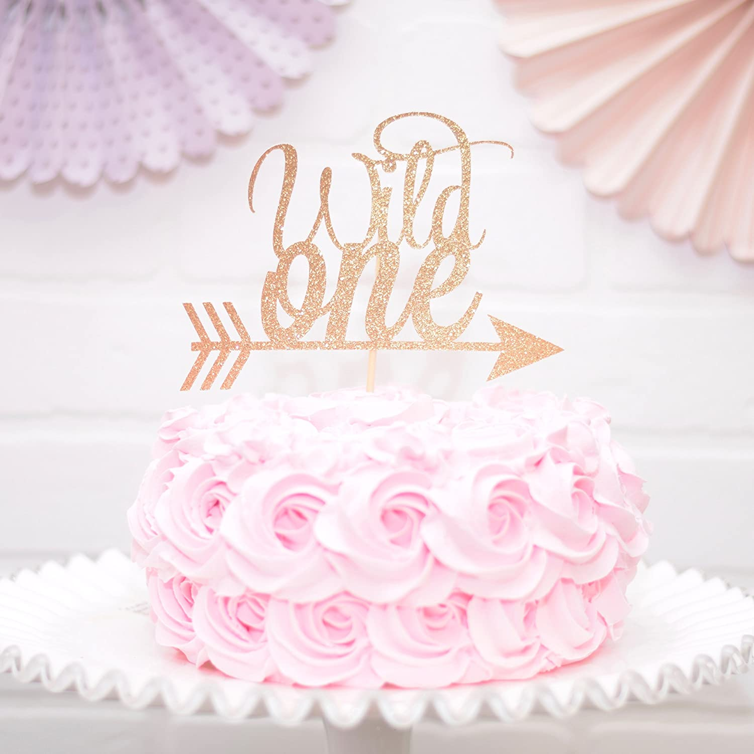 Wild One Cake Topper Birthday Decoration - GOLD