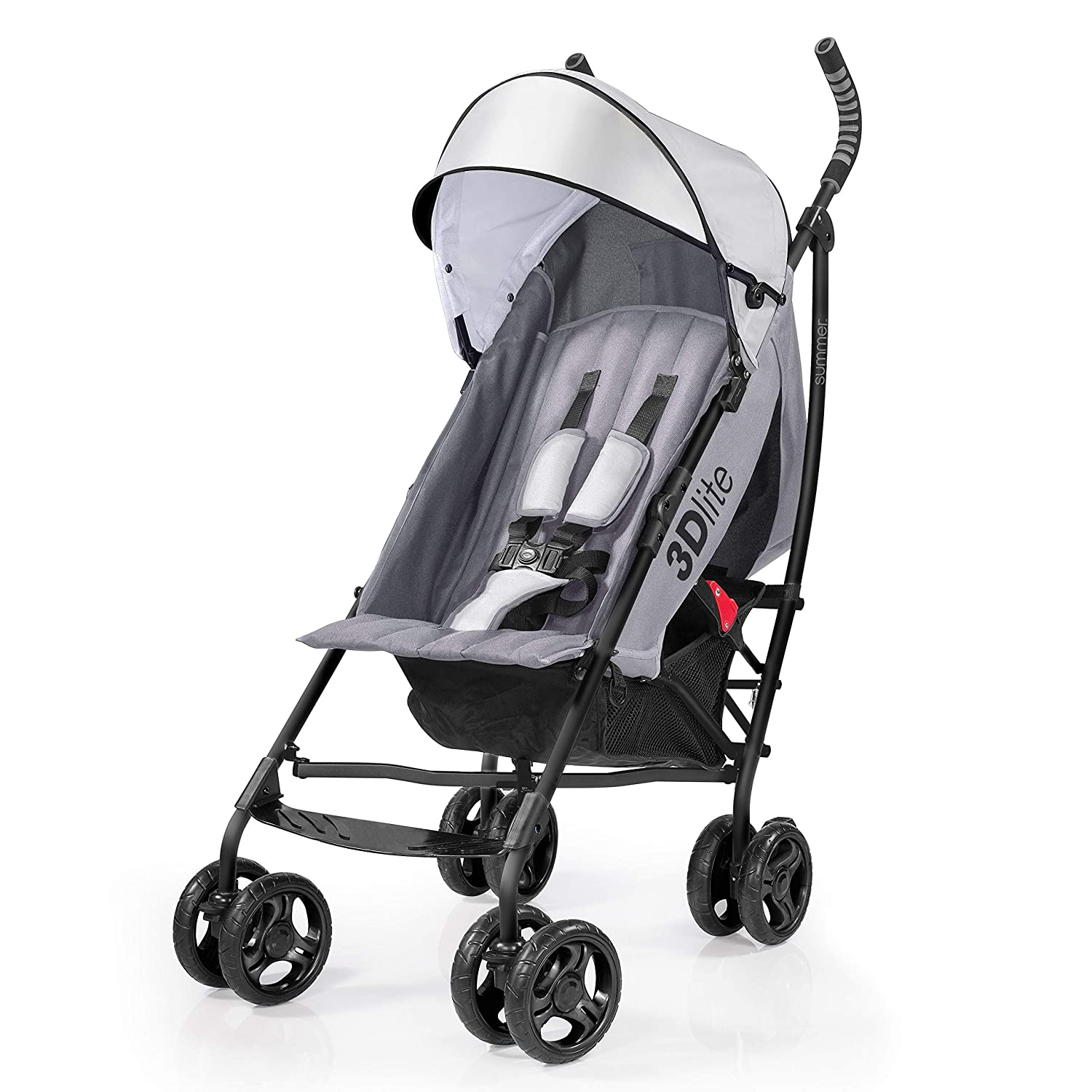 New Black Summer Infant 2015 3D Lite Convenience Stroller FAST SHIPPING!