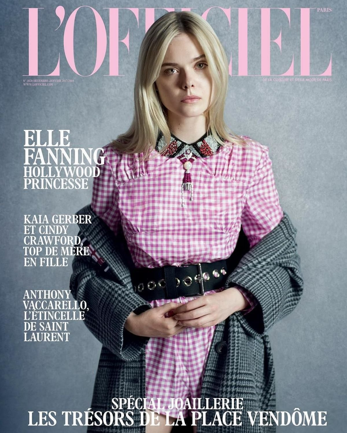 L'Officiel Paris Magazine (December, 2017/January, 2018) Elle Fanning Cover pdf epub
