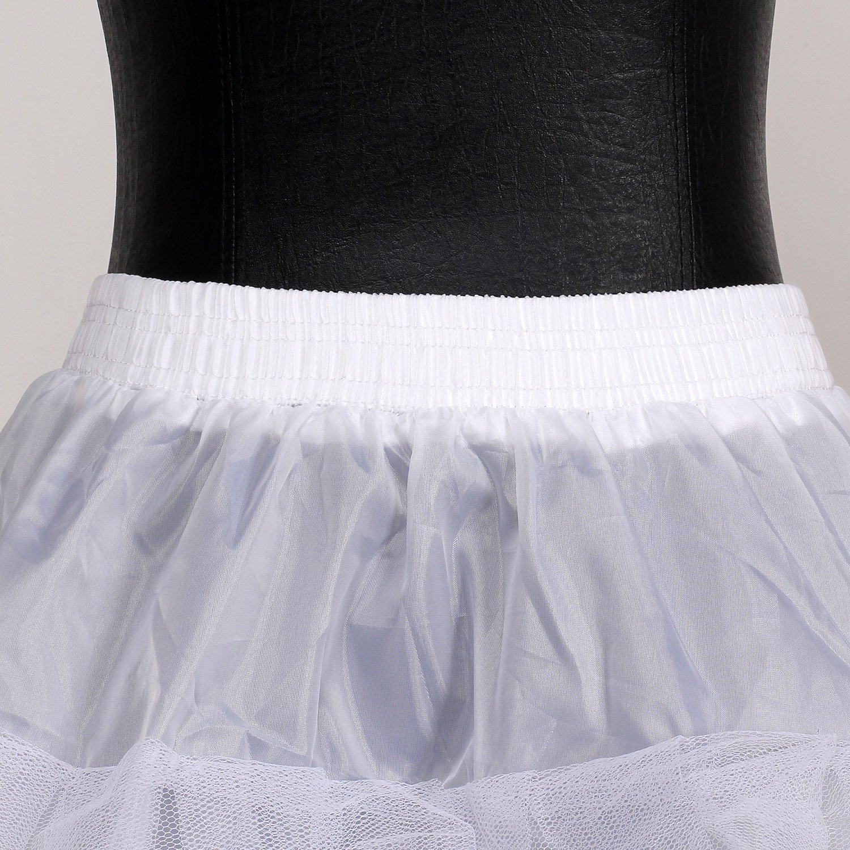 5 Strati Adatto per Taglia XS Taglia Unica S Bianco per Vestito Abito da Sposa Crinolina Sottoveste KXB-0010 HIMRY Sottogonna