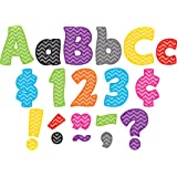 Teacher Created Resources 5454 Chevron Funtastic 4-Inch Letters Combo Pack