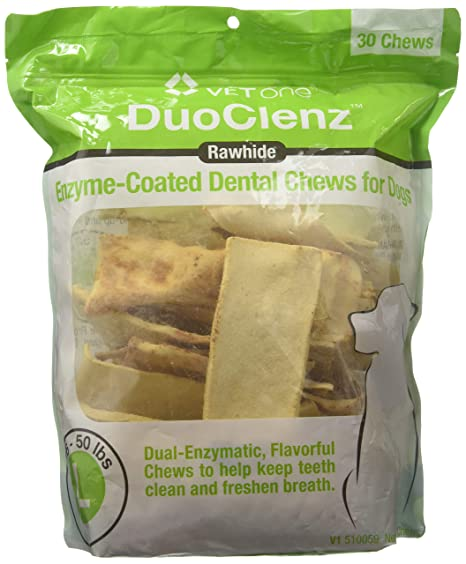Amazon. Com: vet one duoclenz enzyme coated dog dental chews for.
