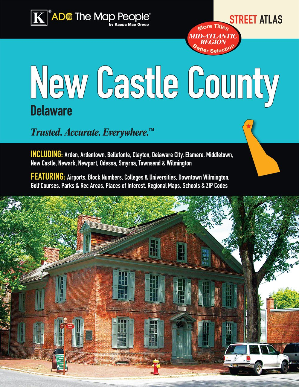 New Castle Delaware Street Atlas ADC The Map People 9780762573431