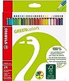 スタビロ 色鉛筆 グリーンカラー 24色 6019-2-24