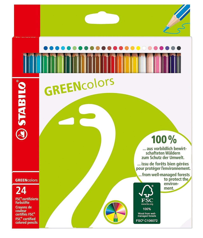 Amazon.com: Stabilo Green Color Pencil Wallet , Set of 24 ...