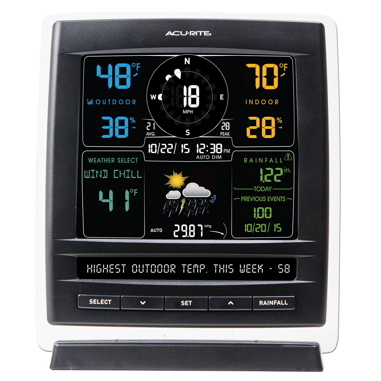 amazon com acurite 01517 wireless weather station with 5 in 1