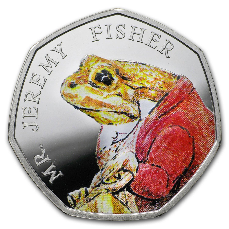2017 Great Britain Silver 50p Beatrix Potter Prf Jeremy Fisher
